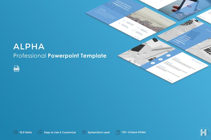 Alpha Powerpoint Template By Haluze On Envato Elements