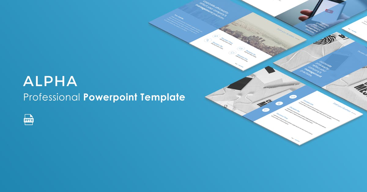 Download Alpha Powerpoint Template by Unknow