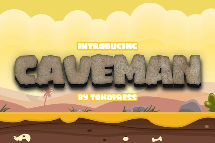 Thumbnail for Caveman - Prehistoric display font