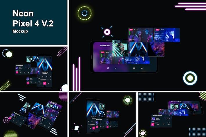 Thumbnail for Neon Pixel 4 Mockup V.2
