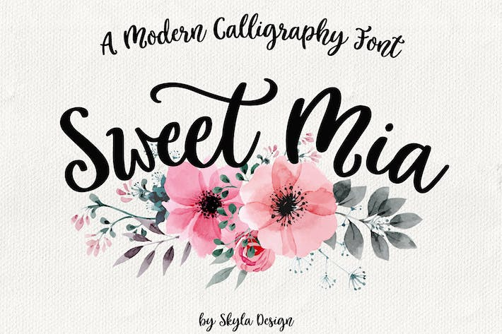 Cover Image For Modern calligraphy font, Sweet Mia
