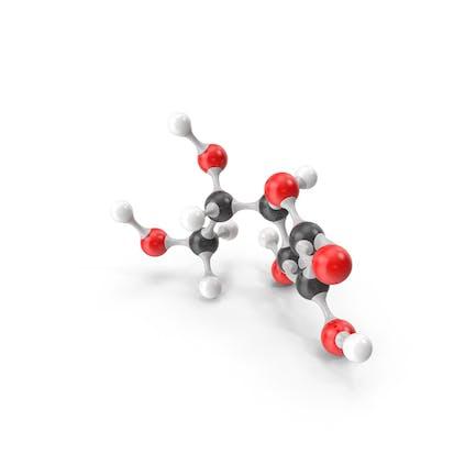 Ascorbic Acid (Vitamin C) Molecular Model