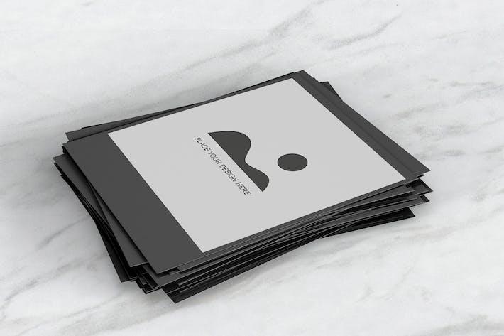 Stack of Instant Photo Frame Mockup