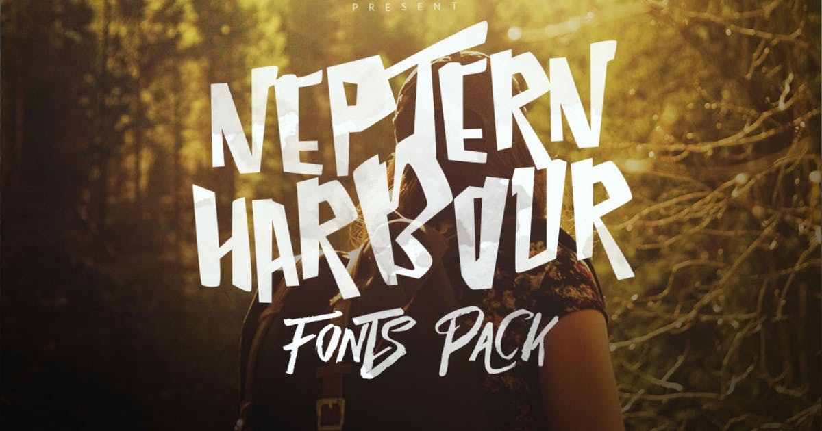 Download Neptern Harbour Font Display Logotype by dirtylinestudio