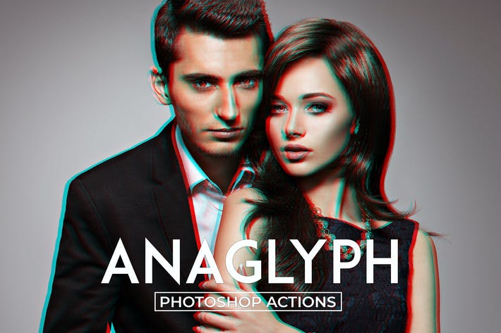 Thumbnail for Anaglyph Photoshop Actions