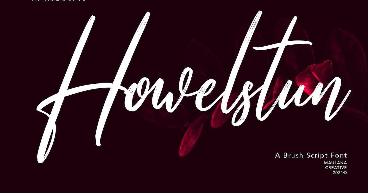 Download Howelstun Brush Script Font by maulanacreative