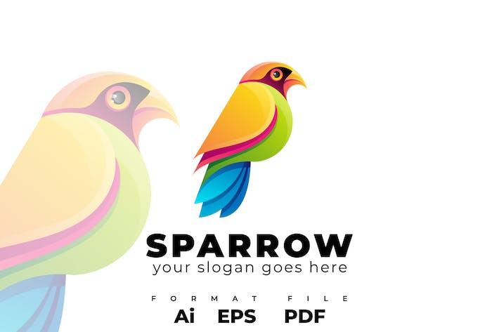 Thumbnail for sparrow bird logo template