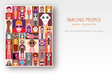 Smiling People / Surprised People vector artworks