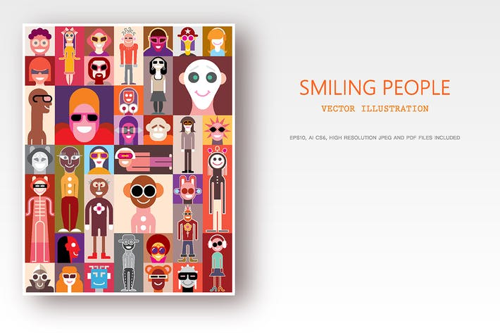 Thumbnail for Smiling People / Surprised People vector artworks