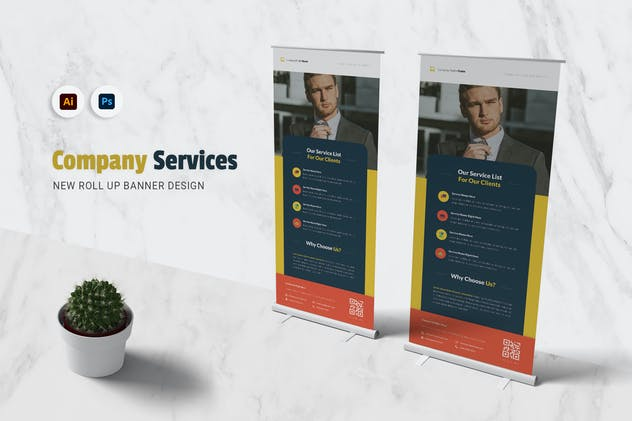 Company Service Roll Up Banner
