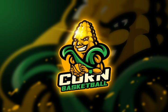 Thumbnail for Corn Basketball - Mascot & Esport Logo