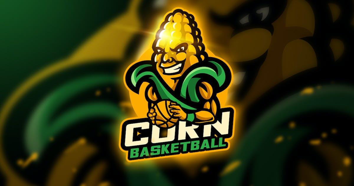 Download Corn Basketball - Mascot & Esport Logo by aqrstudio