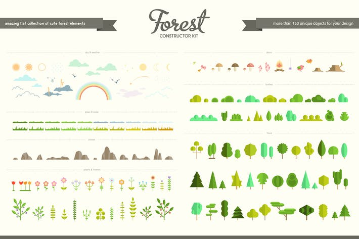 Thumbnail for Flat Forest Creator Set