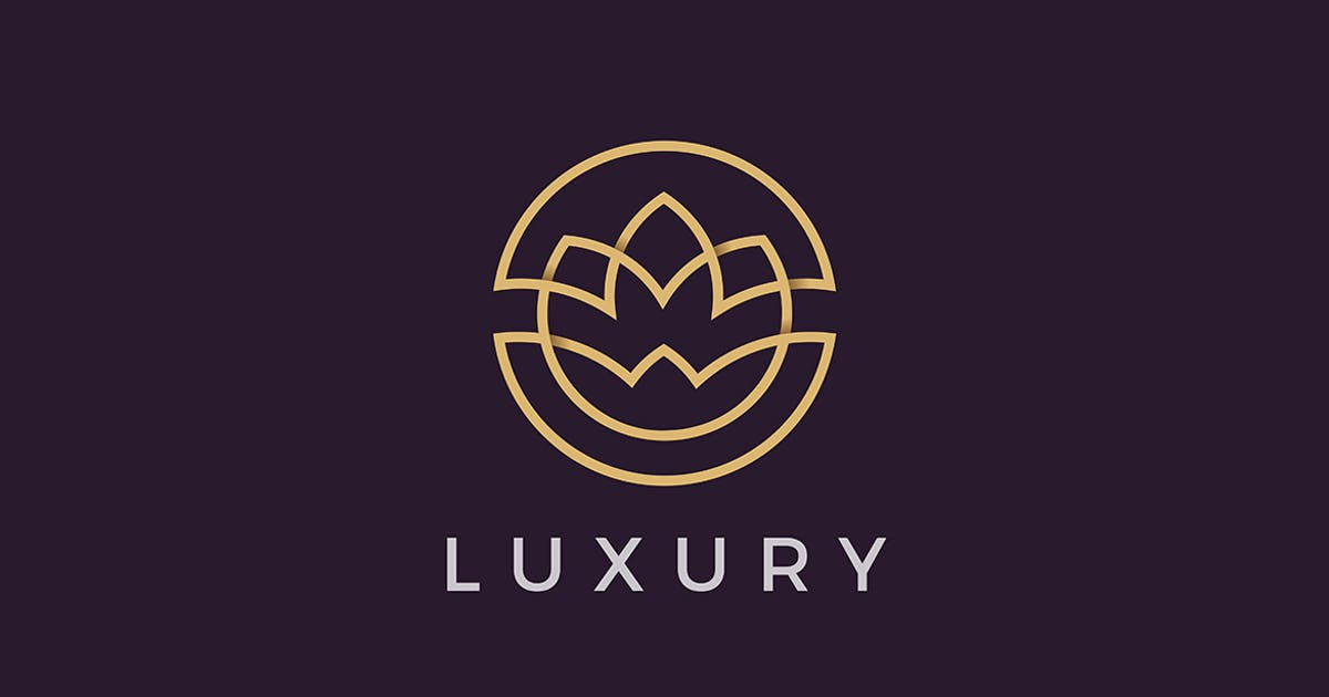 Download Flower Logo Circle Luxury Cosmetics Beauty Fashion by Sentavio