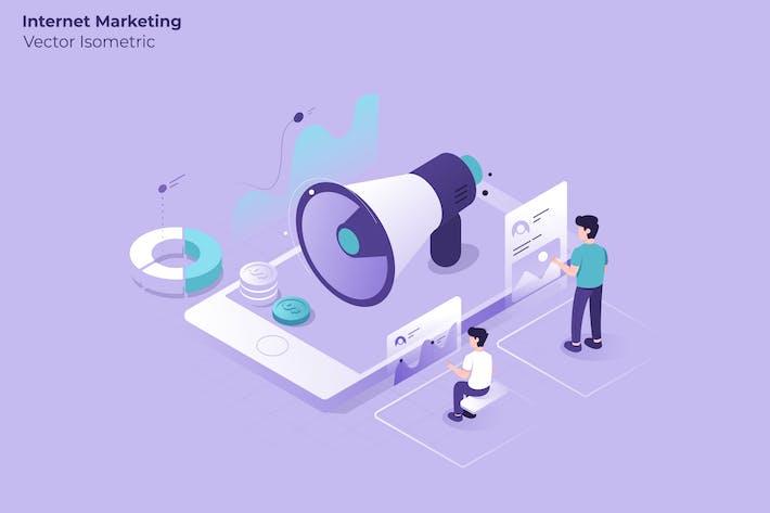 Thumbnail for Internet Marketing - Vektor illustration