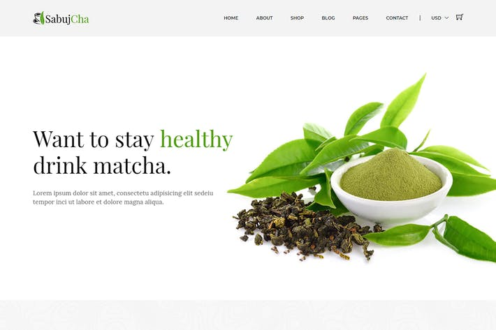 Thumbnail for Sabujcha - Matcha eCommerce Bootstrap4 Template