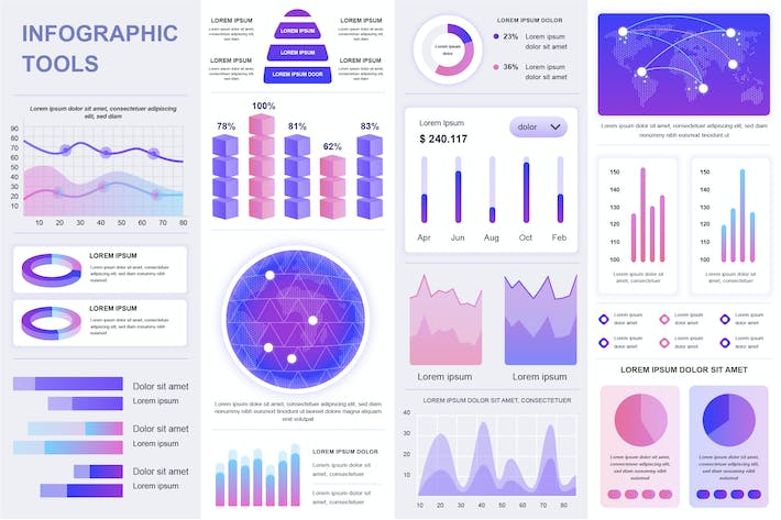Thumbnail for Infographics Template Pack