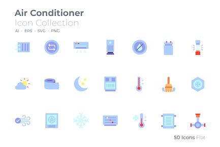 Icono de color del acondicionador de aire