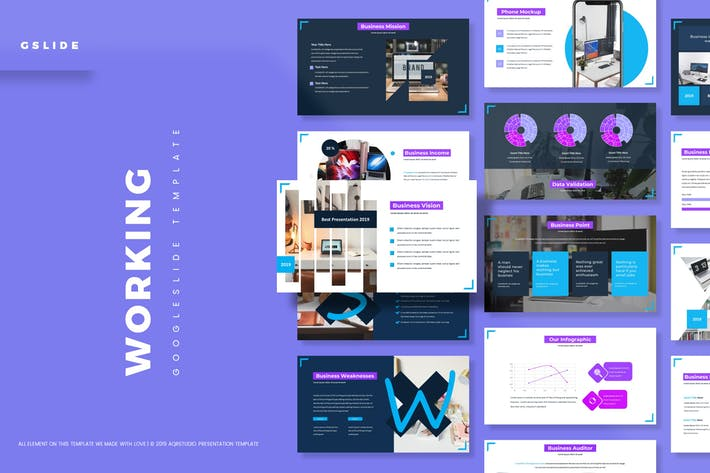 Thumbnail for Working - Google Slides Template