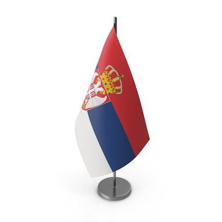 Tischflagge Serbien