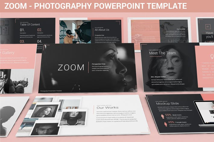 Thumbnail for Zoom - Photography Powerpoint Template