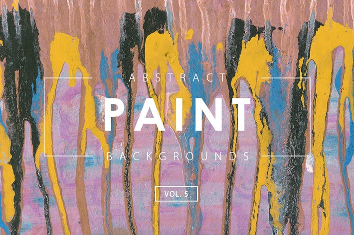 Cover Image For Abstract Paint Backgrounds Vol. 5