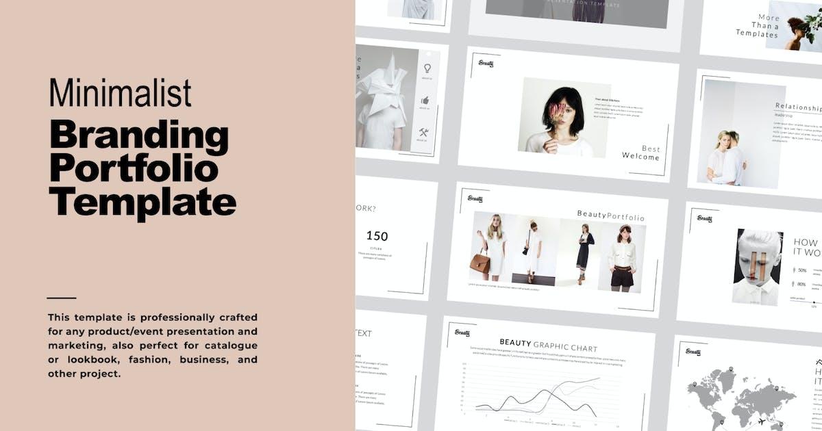 Download Beauty Minimal Business Portfolio Keynote - LS by templatehere
