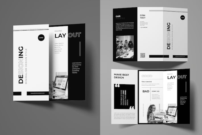 Thumbnail for Minimalist Trifold Brochure