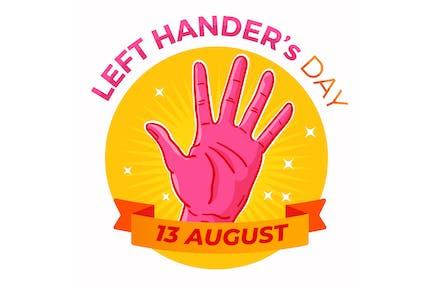 Flache Linkshänder Tag