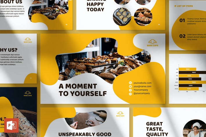 Bakery Cafe PowerPoint Presentation Template