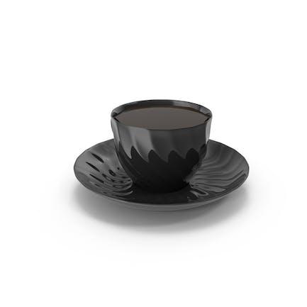 Schwarze Teetasse