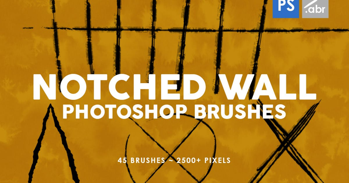Download 45 Notched Wall Photoshop Stamp Brushes by M-e-f