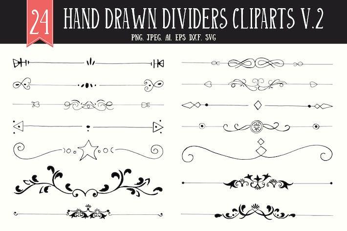 Thumbnail for 20+ Handmade Dividers Cliparts V2