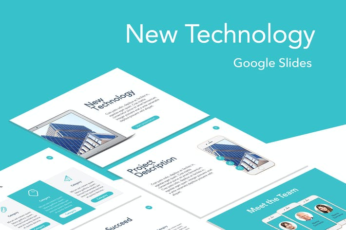 Thumbnail for New Technology Google Slides Template