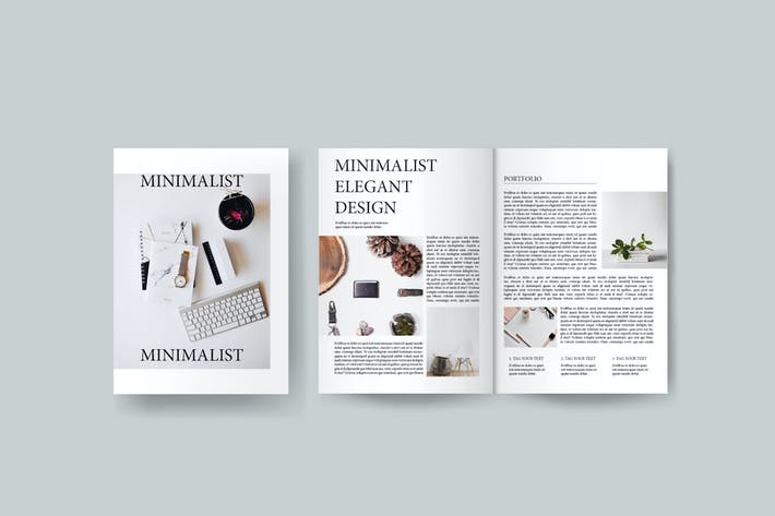 Thumbnail for Minimalist - Magazine Template