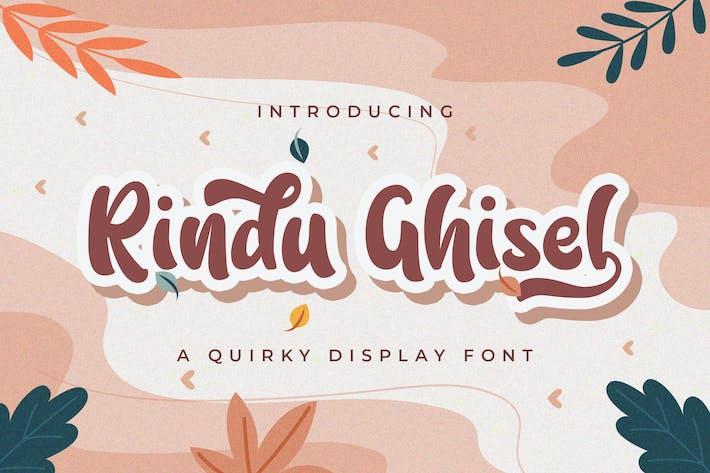 Thumbnail for Rindu Ghisel - Police de script excentrique