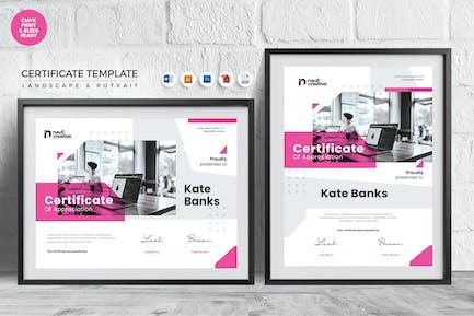 Professional Certificate Template Vol.16