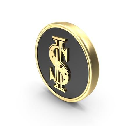Dollar Symbol Coin Logo