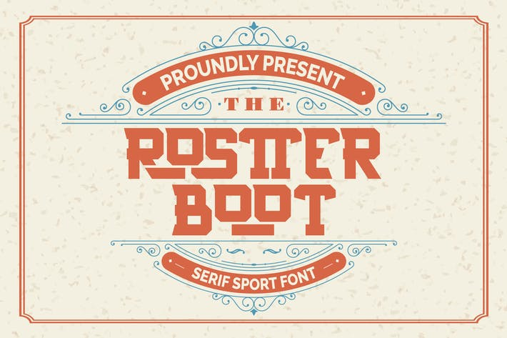 Thumbnail for Rostter Boot | Serif Sport Font
