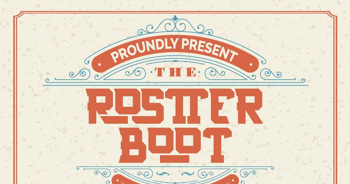 Download Rostter Boot   Serif Sport Font by Vunira