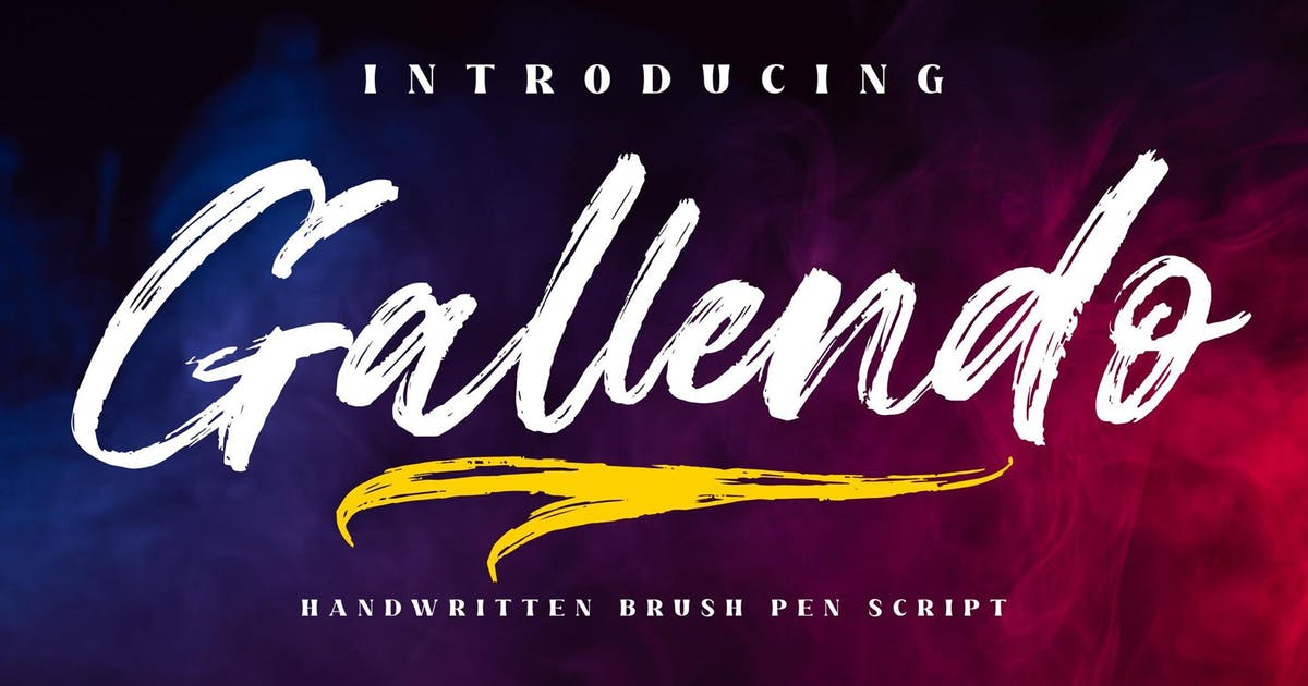 Download Gallendo Brush Script LS by GranzCreative
