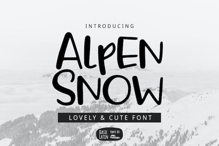 Thumbnail for Alpen Snow Font