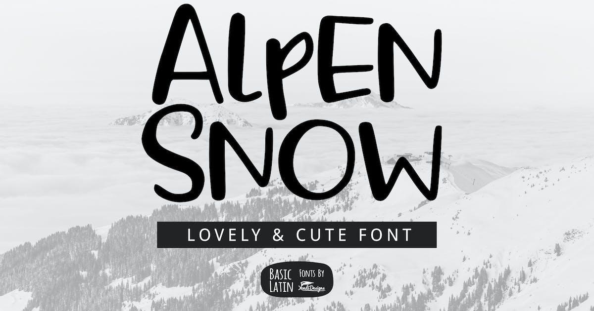 Download Alpen Snow Font by yandidesigns