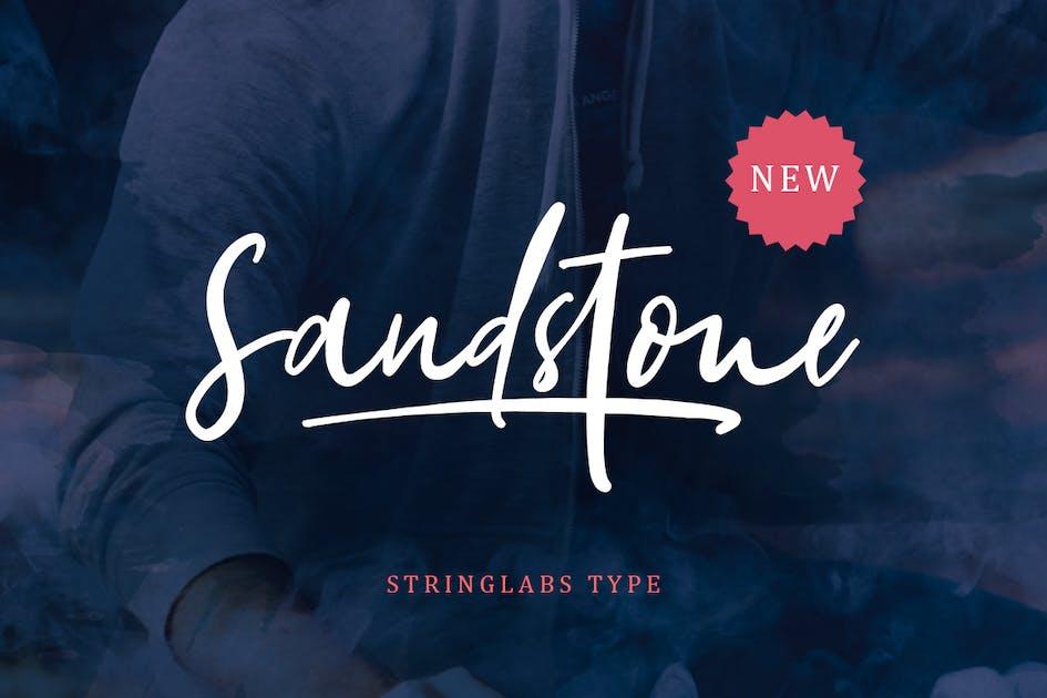 Download Sandstone - Handwritten Script by StringLabs