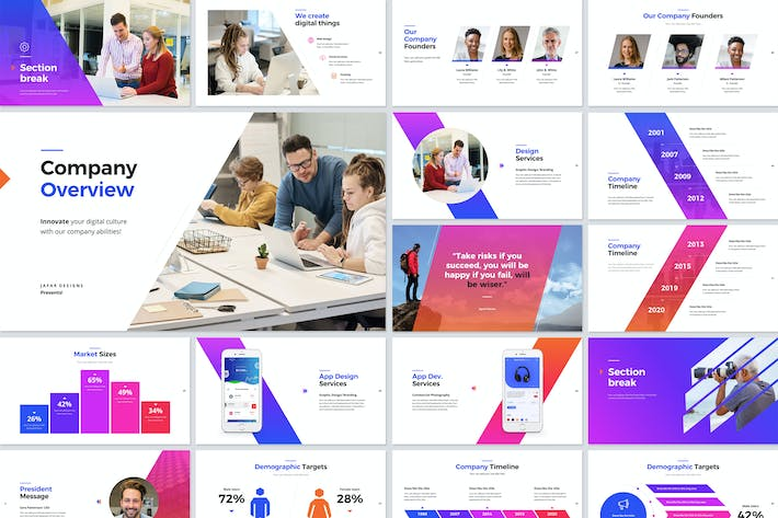 Thumbnail for Company Overview PowerPoint Template