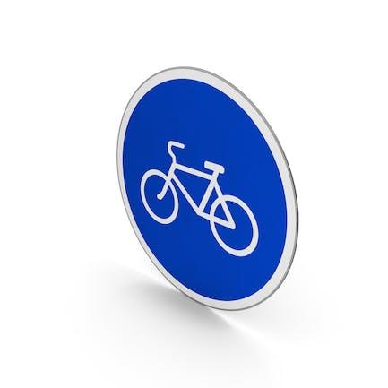 Nur Straßenschild-Fahrräder