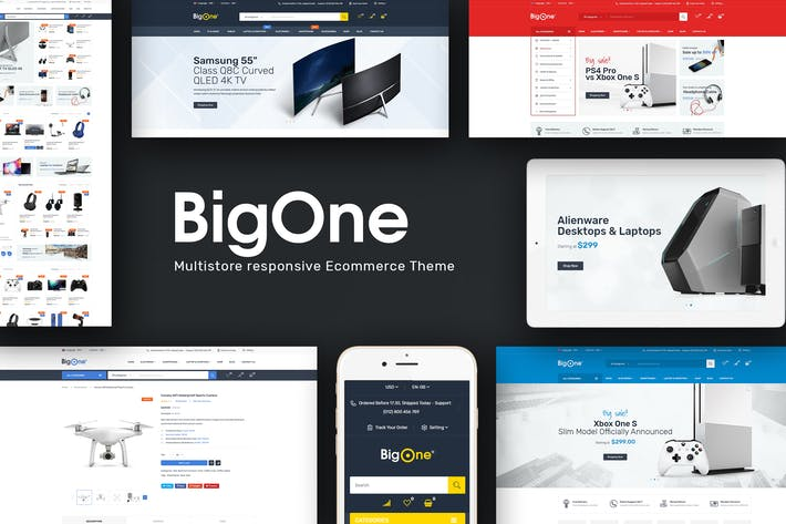 Thumbnail for Bigone - Responsive Magento Theme