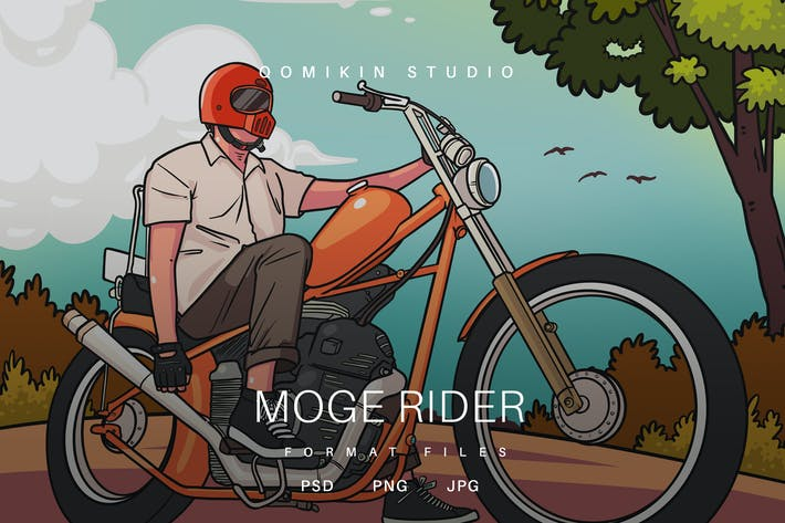 Thumbnail for Moge Rider Illustration