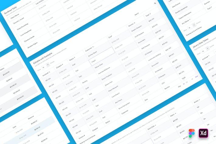 Thumbnail for Web Dashboard Tables Design UI