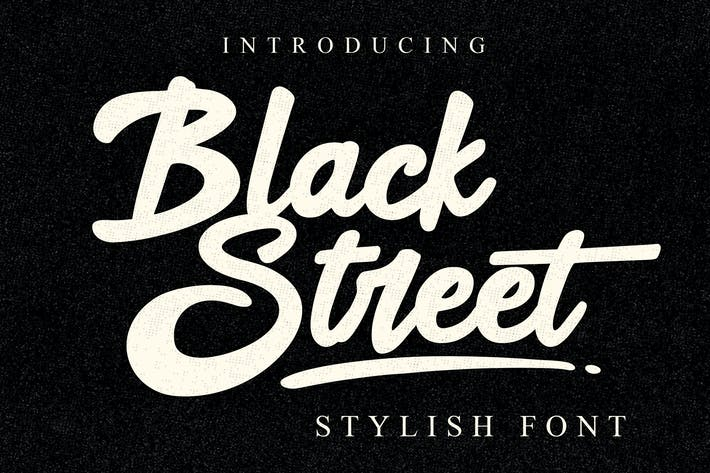 Thumbnail for Black Street Font